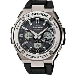RELOJ CASIO G-SHOCK G-STEEL corra negra bisel de acero GST-W110-1AER