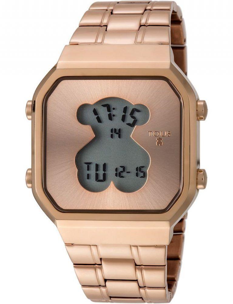Reloj D-Bear Digital de acero IP rosado - TOUS