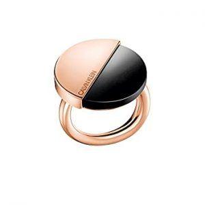 Calvin Klein ANILLO RING SPICY PVDPINK PO BLK ONYX 07 TALLA 14 KJ8RBR140107