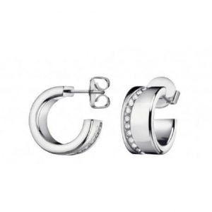 PENDIENTES CALVIN KLEIN E-RING HOOK SST PO WHT CRYSTAL KJ06ME040100