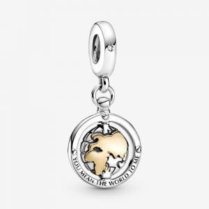PANDORA Charm Colgante Mundo Giratorio 799303C01