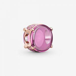 PANDORA Charm rosado cabujón Ovalado rosa 789309C02