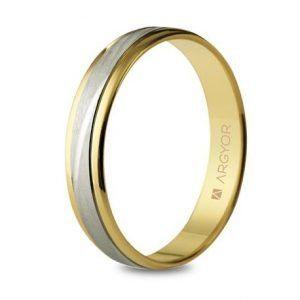 lianza bicolor centro oro blanco rayas 4mm-5240329