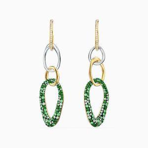 pendientes-the-elements--verde--combinación-de-acabados-metálicos-swarovski-5569183
