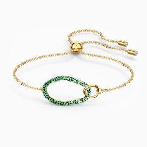 pulsera-the-elements--verde--baño-tono-oro-swarovski-5563935