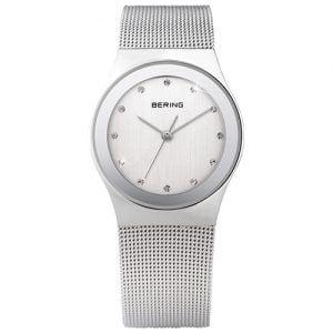 Reloj Bering chica malla plata esfera blanca 27mm 12927-000