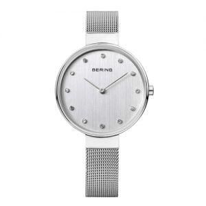 Reloj Bering chica malla y esfera plateada 34mm 12034-000