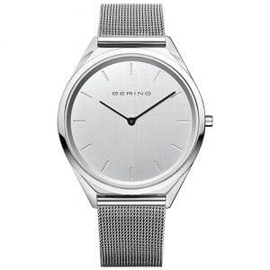 Reloj Bering chico malla acero pulido ultra slim 39mm 17039-000