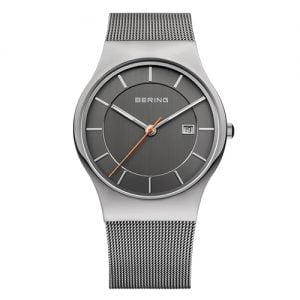 Reloj Bering chico malla esfera gris 38mm 11938-007