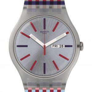 Reloj Swatch Merenda correa cuadritos suow709