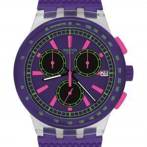 Reloj Swatch Purple Lol crono morado susk400
