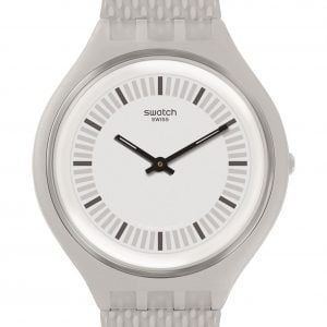 Reloj Swatch Skin blanco indices negros SKINSTRUCTUR svum102