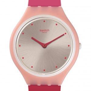 Reloj Swatch Skin rayas fucsias y rosa Skinset svop101