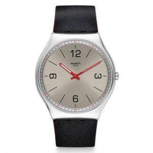 Reloj Swatch Skinmetal Irony Skin manecillas rojas SS07S104