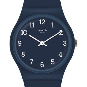 Reloj Swatch azul marino numeros blancos Blueway GN252