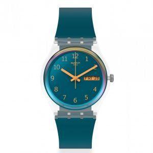 Reloj Swatch azul petroleo blue away ge721
