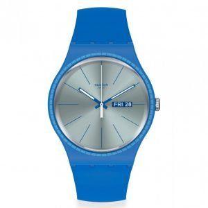 Reloj Swatch azulon segundero blanco blue rails suon714