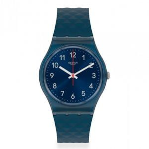 Reloj Swatch azulon segundero rojo bluenel gn271