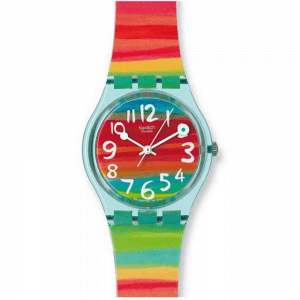 Reloj Swatch bandas multicolor color the sky gs124