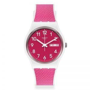Reloj Swatch blanco y fucsia Berry Light GW713