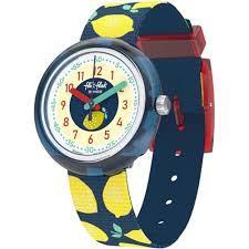 Reloj Swatch flik flak azul limones FPNP061