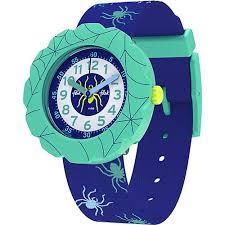 Reloj Swatch flik flak azulon bisel verde FPSP039