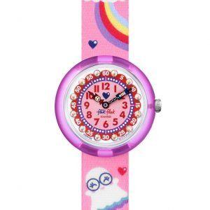 Reloj Swatch flik flak correa rosa arcoiris y fantasmas FBNP165