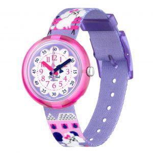 Reloj Swatch flik flak malva caniches FPNP068