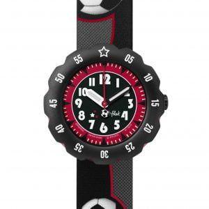 Reloj Swatch flik flak negro balones de futbol FPSP010