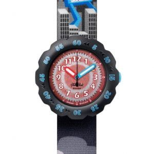Reloj Swatch flik flak negro bisel robot y dinosaurio FPSP047
