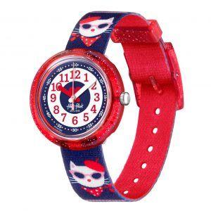 Reloj Swatch flik flak rojo gatita Kitty FPNP065
