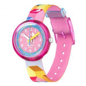 Reloj Swatch flik flak rosa casita pajaro FPNP067