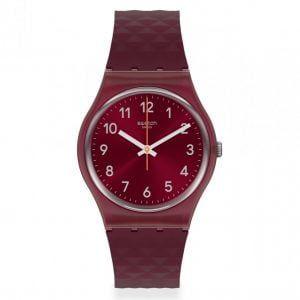 Reloj Swatch granate numeros blancos rednel gr184