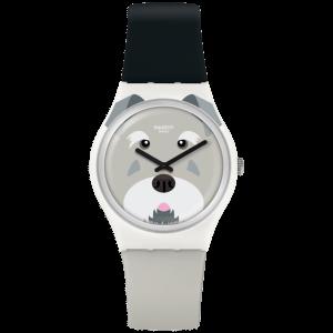 Reloj Swatch gris perro Schnautzi GW210