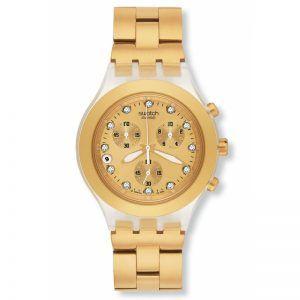 Reloj Swatch irony dorado chrono FULL-BOODED SVCK4032G