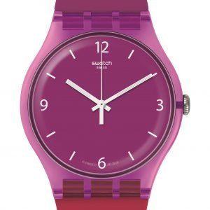 Reloj Swatch morado y fucsia CherryBerry suov104
