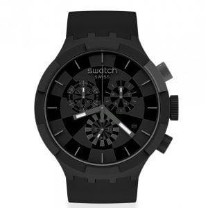 Reloj Swatch negro y gris checkpoint black sb02b400
