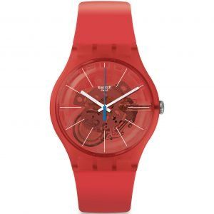 Reloj Swatch rojo anaranjado Bloody Orange SUOO105