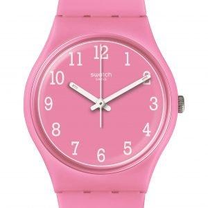 Reloj Swatch rosa numeros blancos Pinkway gp156