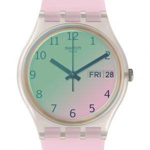 Reloj Swatch rosado ultrarose ge714