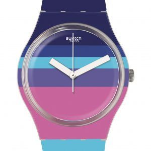 Reloj Swatch rotula azules y morados ge260
