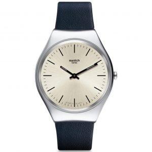 Reloj Swatch skin Irony correa azul marino Skinazul SYXS115