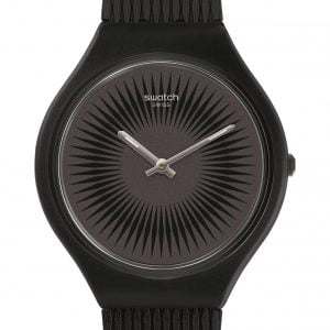 Reloj Swatch skin negro manecillas blancas Skinnella svob104