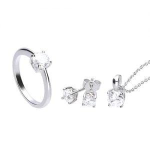 SET ANILLO PEND. + COLLAR DIAMONFIRE anillo talla 15 1312021903175