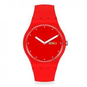 reloj-swatch rojo parte interior de corazones peanse-moi-suoz718-unisex