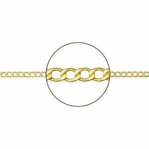Cadena de oro barbada 0,65 mm de 9 kilates de 40cms 9K-B65-40