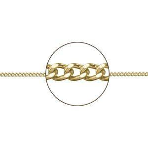 Cadena de oro de 9 kilates barbada brillo de 45cms 9K-216-00148-45