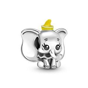Charm plata Disney Dumbo con gorro esmalte amarillo Pandora 799392C01