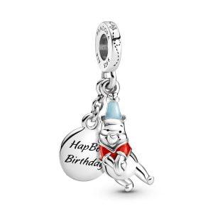 Charm plata colgante Disney Winnie the Pooh feliz cumpleaños Pandora 799385C01