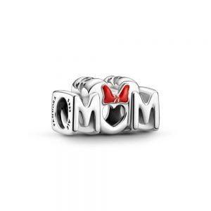 Charm plata disney letras mum minnie lazo rojo Pandora 799363C01